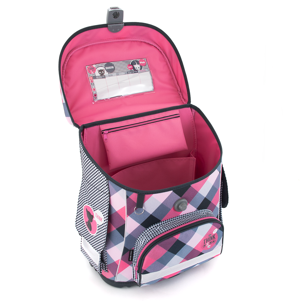 Ars Una Think Pink schoolbag with magnetic lock e4a5a63341