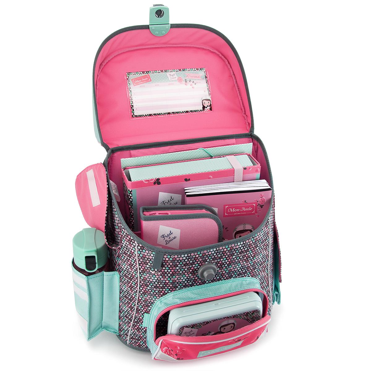4b066487203e Ars Una Mon Amie schoolbag with magnetic lock